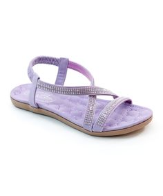This Bolaro Purple Pearl Sandal by Bolaro is perfect! #zulilyfinds