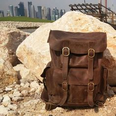 New stone backpack traveling Original genuine leather fullup  Full compartment, laptop, gadget, powerbank,  etc Design by rudayat Made By Handmade Compartment Full Leather limited edition Made by order Contact :  Made in Bandung Indonesia whatsapp +6281322365446