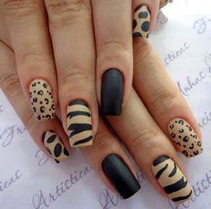 Unique and Beautiful Nail Art Designs 2017 - Artistic Nail Designs Fancy Nails, Trendy Nails, Nice Nails, Nail Art Designs, Leopard Nail Designs, Design Art, Manicure E Pedicure, Manicure Ideas, Hot Nails