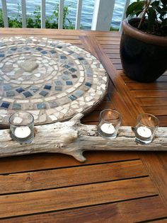 Learn how to make this stylish driftwood candle holder with help from Stitch a Wish Designs.