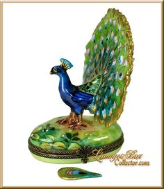 The Magnificent Peacock Limoges Box by Beauchamp Limoges ~ www.LimogesBoxCollector.com