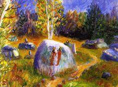 Ira et Lenna de Burial Ground égyptienne, huile sur toile de William James Glackens (1870-1938, United States)