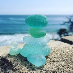 Ommmm. #beachphotochallenge Enjoy the view pretty mermaid stack. #seaglassstack #zen #sea #seaglass #zeros #nicholascanyon finally read the actual challenges so I can try and stay with it!!