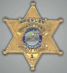 elvis graceland security badge