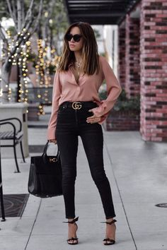 Edgy Work Outfits, Jeans Outfit For Work, Office Outfits Women, Summer Work Outfits, Mode Outfits, Cute Casual Outfits, Stylish Outfits, Jean Outfits, Office Attire For Women