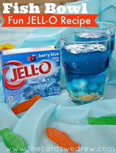 Fish Bowl Fun Jell-O Recipe Idea #justaddjelLOVE #ad @KRAFTJELLO