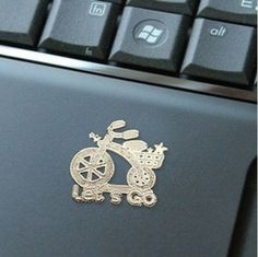 Cute bike design kid's gift mobile sticker  24k gold plate computer/mobile radiation protection DIY sticker $19.69