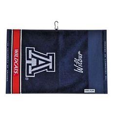 Team Effort NCAA Face/Club Jacquard Golf Towel - University of Arizona