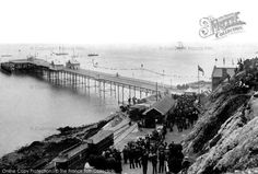 Mumbles, The Pier Beginning as a ramrod in the Mumbles railway became very popular in 1879 when steam power was introduced, and it was extended to Mumbles Pier in Swansea Wales, Gower Peninsula, Cymru, Great British, Back In Time, British History, South Wales, Old Photos, Liverpool