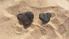 Two gifts I received on Christmas day, a heart rock from my son and mother.