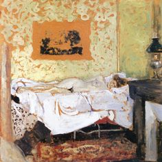 jean-édouard vuillard(1868–1940), the cot, 1903. oil on board, 58 x 51 cm. private collection http://www.the-athenaeum.org/art/detail.php?ID=126503