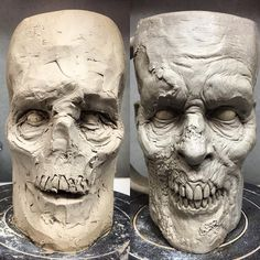 💀 WIP ------------------------------- #ceramics #walker #pottery #creepy #scary #coffeeaddict #horrorlover #horrorjunkie #nightmare #horrorfan #twd #stoneware #horror #coffee #horroraddict #undead #thewalkingdead #zombiemug #coffeemug #mug #coffeelover #coffeebreak #zombie #zombies #mugsofinstagram #mugaddict #mugcollection #muglife