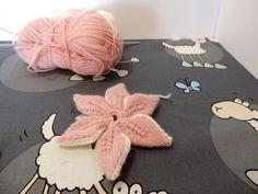 tutoriel fleur au tricot