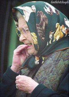 Queen Elizabeth II even she bites her nails..