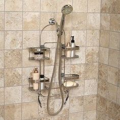 Premium Stainless Steel Bath Shelf Expandable Soap Shampoo Holder Shower Caddy