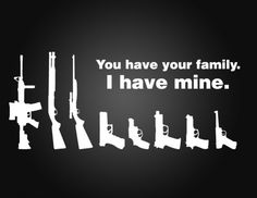 Gun family decal for your car window.  It's just like those stick family decals everyone has on the back of their car.