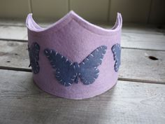 Butterfly Princess lavender felt crown by therootstudio on Etsy, $28.00