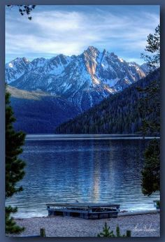 One of Idaho's most lovely places to be—always! Redfish Lake.  ~Photo by Sharon Breshears —