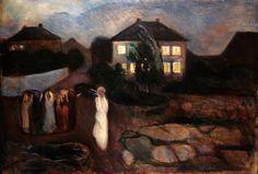 Edvard Munch Fırtına / The Storm 1893. Tuval üzerine yağlıboya. 91.8 x 130.8 cm. The Museum of Modern Arts, New York.