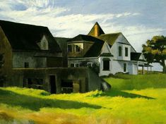 Edward Hopper Cape Cod Afternoon painting is shipped worldwide,including stretched canvas and framed art.This Edward Hopper Cape Cod Afternoon painting is available at custom size. American Art, Art Museum, Cityscape, Carnegie Museum Of Art, Edward Hopper Paintings, Painting, Art, American Realism, Edward