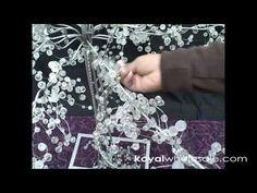 How to Create Fantasyland Tree w/ Crystal Garlands Wedding Centerpiece by KoyalWholesale.com