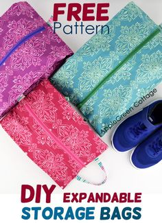 Grab this free pattern for a DIY storage bag and keep everything neatly organized – a great shoe storage bag, DIY project bag, fabric storage and hanging home organizer – all you need for DIY storage! The pattern comes in … Read More. Bag Pattern Free, Wallet Pattern, Bag Patterns To Sew, Sewing Patterns Free, Free Sewing, Sewing Tutorials, Sewing Projects, Sewing Ideas, Bag Tutorials
