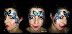 butterfly forehead face painting