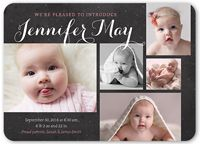 4 Photo Girl Birth Announcements & Baby Birth Announcement Cards | Shutterfly