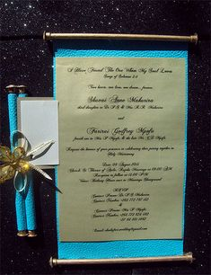 Ref Fancy scroll Tuquoise classic ( We can do any colour) www.weddingcards.co.za Wedding Cards Handmade, Traditional Wedding, Wedding Invitations, Fancy, Colour, Classic, Prints, Color, Derby