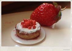 Strawberry Cream Cake Dollhouse Miniature by 2smartminiatures