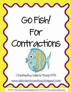 Go Fish for Contractions is played just like the traditional