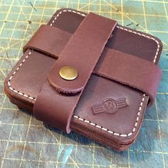 Beefskin full grain SB Foot leather coasters (set of 4). $85 shipped Leather Crafting, Leather Coasters, Wallet Chain, Journal Covers, Leather Fabric, Leather Working, Coaster Set, Pouches, Phone Case