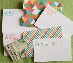 free printable for gift-giving cash holder