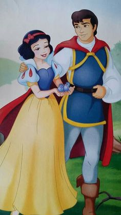 Snow White and her Prince with her blue bird friends Disney Pixar, Disney Cartoon Characters, Cinderella Disney, Walt Disney, Disney Couples, Couple Cartoon, Disney Films, Disney Family, Disney Fun
