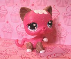 Cat Waffle Cone Sundae Sweet Series * OOAK Painted Custom Littlest Pet Shop #Hasbro