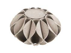 Pouf en feutre de laine RUFF POUF by GAN By Gandia Blasco design Romero Vallejo