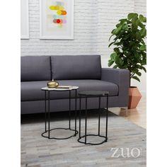 Zuo Modern Contemporary Brighton Accent Table - Set of 2 - 405007 White Accent Table, White End Tables, Sofa End Tables, Accent Tables, Side Tables, Table Frame, Nesting Tables, Modern Contemporary, Table Settings