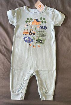Cartoon Red Fox1 Newborn Infant Baby Short Sleeve One-Piece Coverall 0-24M