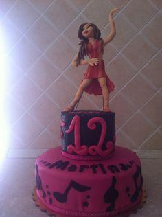 Latin dancer , torta tema musica e ballo latino.
