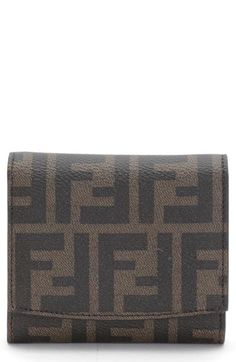 52be729ad74a Fendi  Small  Zucca Logo Wallet available at  Nordstrom Fendi