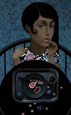 "Slava Fokk-""Dessert"" (Vintage Stories) oil on canvas 43""x70""(110x180cm) 2017"
