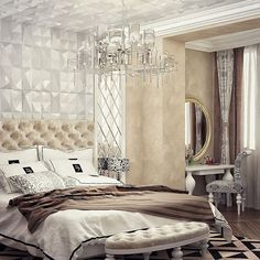 #smprojectdesign #project #design #arc #columns #bedroom #classic #ardeco #Vray #3dsmax #elements #ceramic #mirror #stuco #style #textile #krasnodar