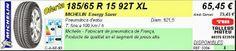 Tallers Mateu: 185/65 R 15 92T XL MICHELIN ENERGY SAVER