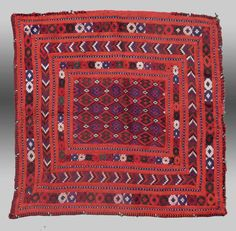 VINTAGE TEXTILE Art BALUCH Embroidery by tcEclecticImages on Etsy