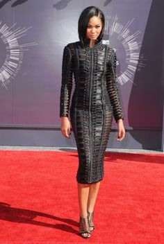 Fabulously Spotted: Chanel Iman Wearing Balmain – 2014 MTV Video Music Awards