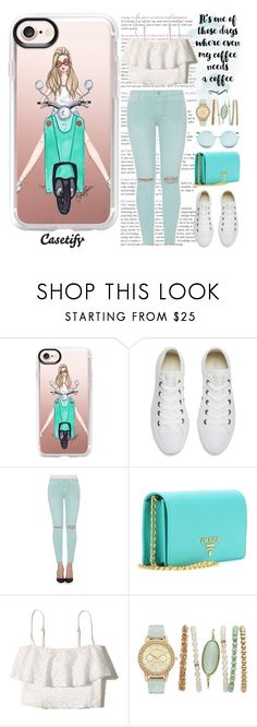 """""""Scooter ride🌿"""" by casetify ❤ liked on Polyvore featuring Casetify, Converse, Joe's Jeans, Prada, Hollister Co. and Matthew Williamson"""