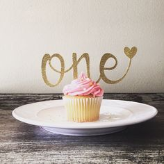 One Cake Topper - First Birthday Cake Topper - Heart - Anniversary Cake Topper - Glitter - Gold - First Birthday - Birthday Decorations by HBSouthernInspired on Etsy https://www.etsy.com/listing/254006582/one-cake-topper-first-birthday-cake