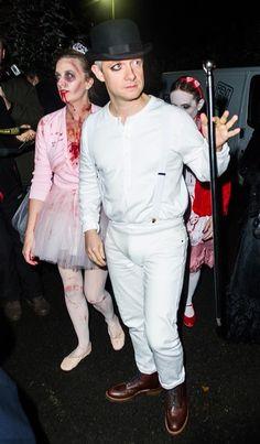 Martin Freeman took inspiration from A Clockwork Orange while Amanda Abbington's costume had a Victoriana vibe