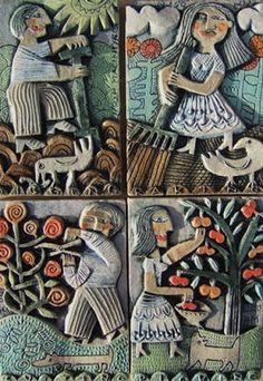 boo vake: hilke macintyre - ceramic reliefs