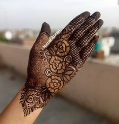 Rose Mehndi Designs, Khafif Mehndi Design, Latest Henna Designs, Unique Mehndi Designs, Henna Art Designs, Mehndi Designs For Girls, Dulhan Mehndi Designs, Mehndi Design Pictures, Wedding Mehndi Designs